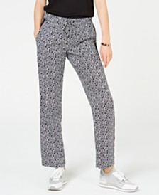MICHAEL Michael Kors Printed Track Pants, Regular & Petite