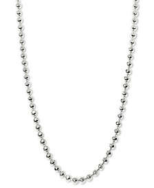 "Beaded 20"" Chain Necklace in 14k White Gold"