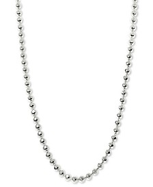 "Alex Woo Beaded 20"" Chain Necklace in 14k White Gold"