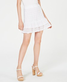 MICHAEL Michael Kors Ruffled Lace Mini Skirt, Regular & Petite