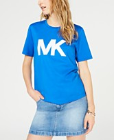 7a2a6a69e9e6 MICHAEL Michael Kors Cotton Studded Logo T-Shirt