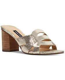 a068546752d Nine West Nevaeh Block-Heel Slide Sandals
