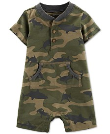 Carter's Baby Boys Cotton Camouflage Romper