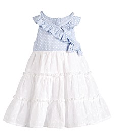 Baby Girls Wrap & Ruffle Dress