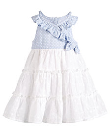 Bonnie Baby Baby Girls Wrap & Ruffle Dress
