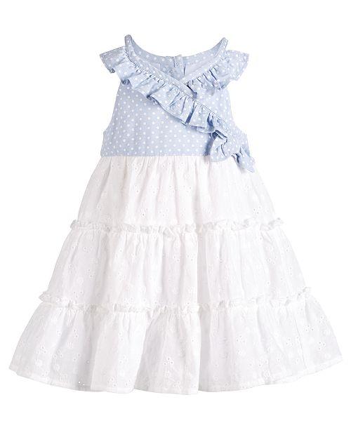Bonnie Baby Baby Girls Wrap & Ruffle Dress