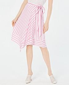 Teagan Striped Wrap Skirt