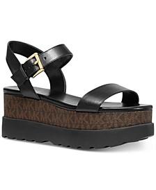 Marlon Signature Logo Flatform Sandals