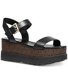 MICHAEL Michael Kors Marlon Signature Logo Flatform Sandals