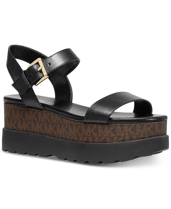 Michael Kors Marlon Signature Logo Flatform Sandals