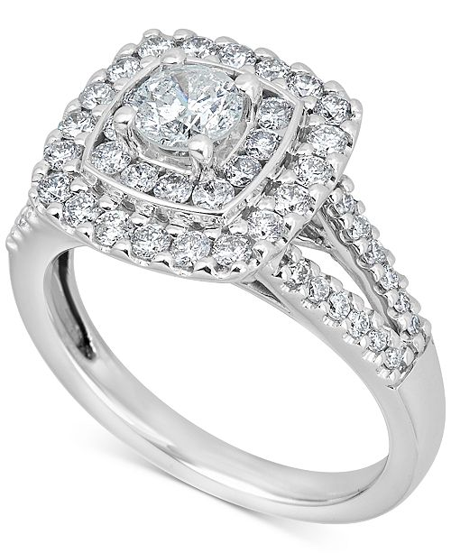 Macy's Diamond Engagement Ring (1-3/8 ct. t.w.) in 14k White Gold