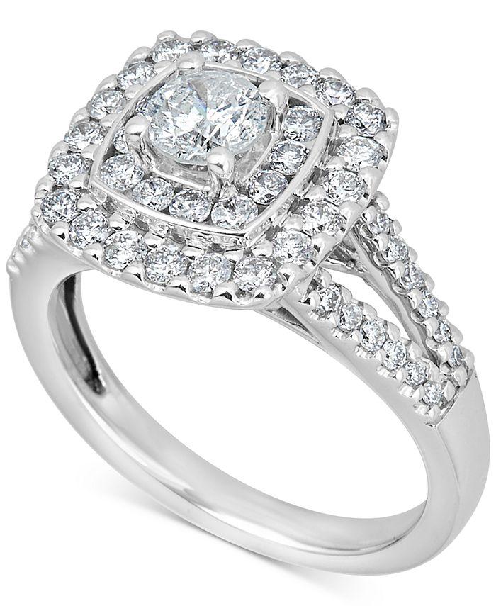 Macy's - Diamond Engagement Ring (1-3/8 ct. t.w.) in 14k White Gold