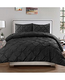 King 3-Pc Pintuck Duvet Cover Set