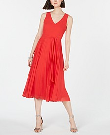 INC Pleated-Skirt Midi Dress, Created for Macy's