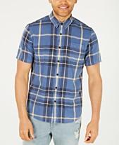 b82ef6108 American Rag Men's Snow-Washed Denim Plaid Shirt, Created for Macy's
