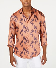 I.N.C. International Concepts Men's Francesco Tropical Fern Print Shirt