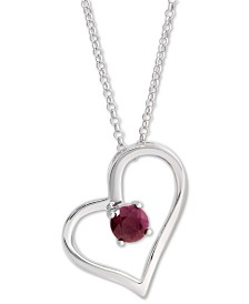 Ruby Heart Pendant Necklace (2-3/8 ct. t.w.) in Sterling Silver