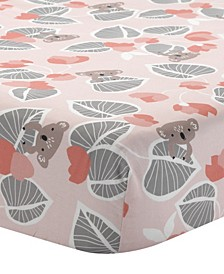 Calypso with Leaf Print 100% Cotton Fitted Crib Sheet