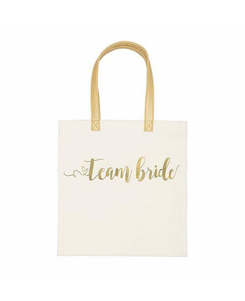 Cathy's Concepts Gold Foil Team Bride Canvas Tote