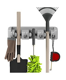 Shovel, Rake and Tool Holder with Hooks - Wall Mounted organizer 2 Pack by Stalwart