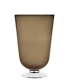 """Godinger Novo Rondo 16"""" Topaz Vase/hurricane"""