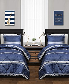 Marlton Stripe 3Pc Full/Queen Comforter Set