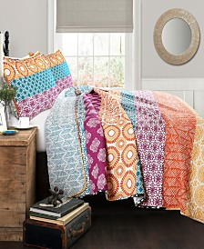 Bohemian Stripe 3Pc King Quilt Set