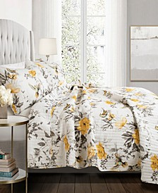 Penrose Floral 3-Pc. Full/Queen Quilt Set