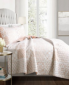 Monique 3Pc King Quilt Set