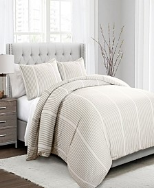 Drew Stripe 3pc Full/Queen Duvet Cover