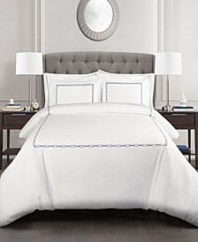 Hotel Geo 3pc Full/Queen Duvet Cover