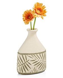 La Dolce Vita Small Ceramic Leaf Vase