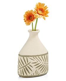 Home Essentials La Dolce Vita Small Ceramic Leaf Vase