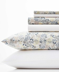 Laura Ashley Sugar Almond Floral/Dots Sheet Set, King