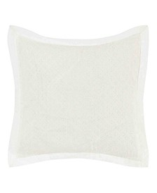 Mila White Eyelet Throw Pillow