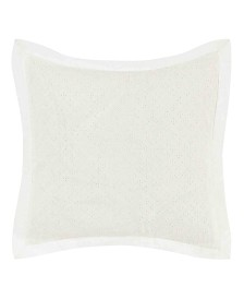 Laura Ashley Mila White Eyelet Throw Pillow