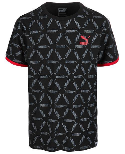 Puma Big Boys Logo Geo-Print Cotton T-Shirt