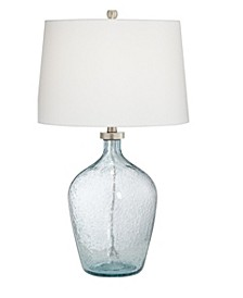 Clear Blue Bubble Glass Table Lamp