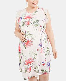 Motherhood Maternity Plus Size Floral-Print Dress