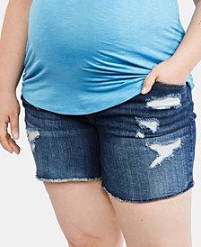 Jessica Simpson Maternity Plus Size Denim Shorts
