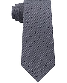 Calvin Klein Men's Mirror Dot Slim Silk Tie