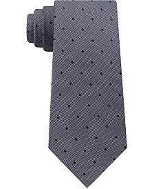 Calvin Klein Men's Mirror Dot Slim Silk Tie