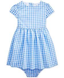Polo Ralph Lauren Baby Girls Checked Taffeta Dress & Bloomer