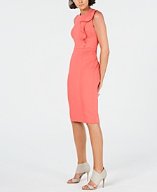 Side-Ruffle Sheath Dress