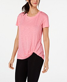 Knot-Front T-Shirt, Created for Macy's