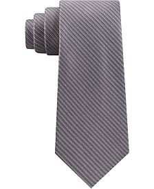 Michael Kors Men's Thin Stitched Tailored Stripe Tie