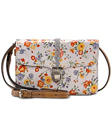 Printed Bianco Braided Leather Crossbody