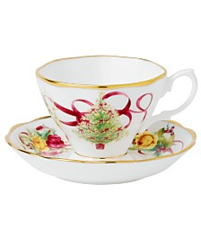 Royal Albert Old Country Roses Holiday Teacup and Saucer