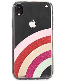 kate spade new york Glitter Rainbow iPhone XS Max Case