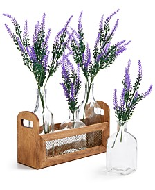 Home Essentials La Dolce Vita Lavender Artificial Tablescape